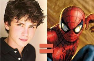 Logan Lerman as Peter Parker, aka Spiderman?