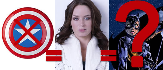 Emily Blunt won't be Peggy Carter, but might be Catwoman?