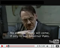 Hitler finds out about Sarah Palin's resignation