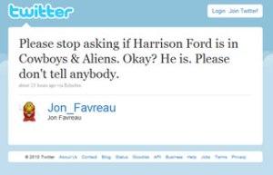 Jon Favreau - Tweet