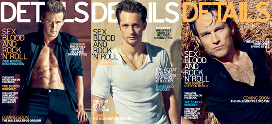 Ryan Kwaten, Alexander Skarsgard and Stephen Moyer