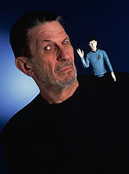 Leonard Nimoy and his alter ego