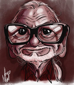 George Romero by Nolan Harris - I just love this image!