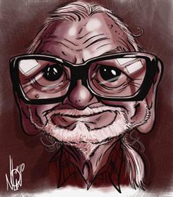 George Romero by Nolan Harris - I just love this image!