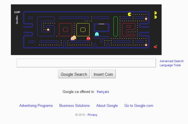 PacMan for Google