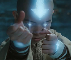Noah Ringer as Aang - The Last Airbender
